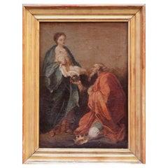 17th Century Carlo Maratta Oil on Canvas Painting