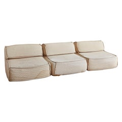 Vintage European Sectional Sofa Attributed to Roche Bobois, 1980s