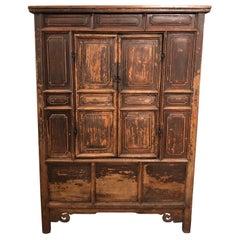 Antique Pine Buddha Cabinet