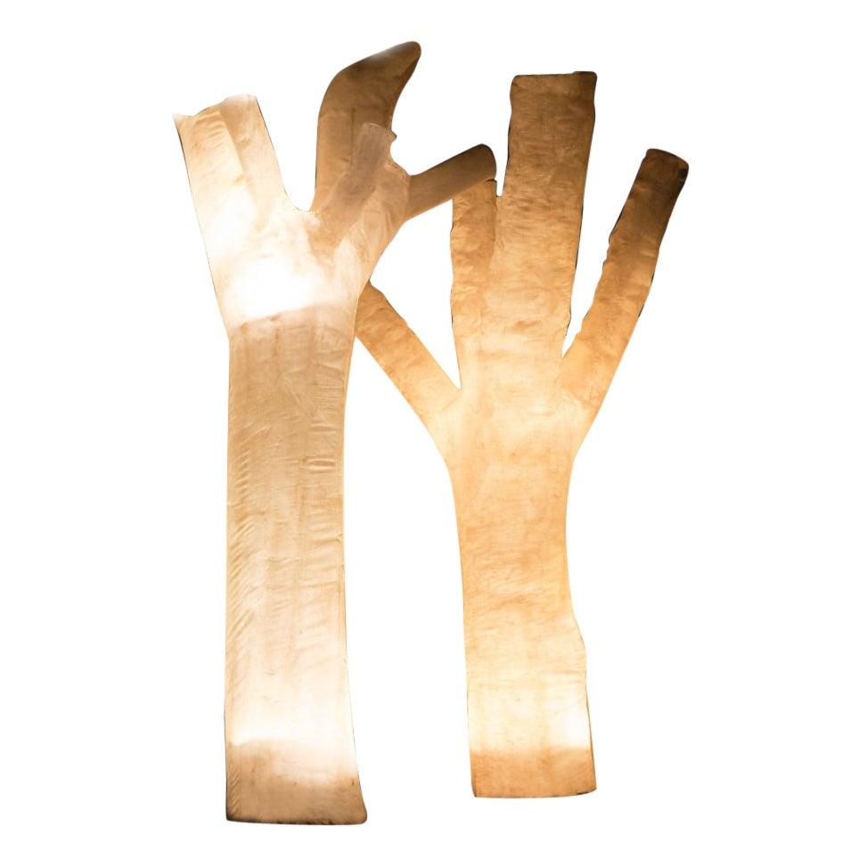 Set of 2 No Leafs, Light Sculptures by Atelier Haute Cuisine