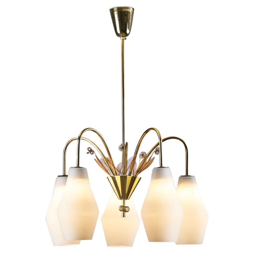 """Paavo Tynell """"K1-9/5"""" Ceiling Lamp for Idman Oy, Finland, 1950s"""