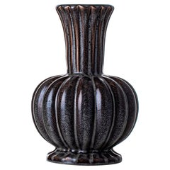 Scandinavian Modern Ewald Dahlskog Ceramic Vase Produced by Bobergs Fajansfabrik