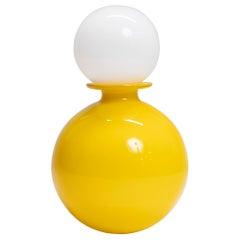 Yellow Glass Scandinavian Bottle