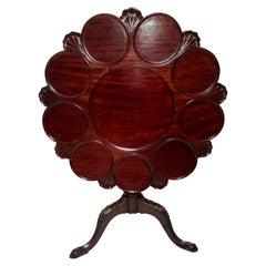 "Antique English Mahogany ""Pie-Crust"" Tilt Top Table, Circa 1875-1885"