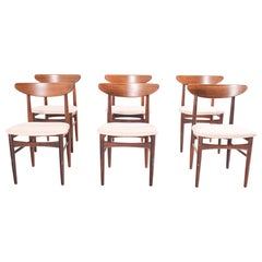 Set of Six Rosewood Dining Chairs by EW Bach for Møbelfabrik, 1960s