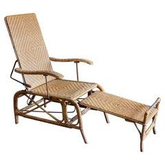 Bauhaus Rattan Garden Lounger Designed by Erich Dieckmann, 1930s