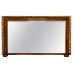 George II Walnut & Parcel Gilt Overmantle Mirror