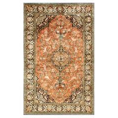 Antique Persian Qum Silk Rug