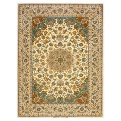 Antique Persian Isfahan Silk Rug 3' 8'' x 5' 1''