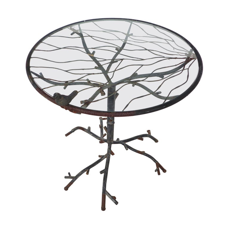 Cafe Table in the Manner of Alberto Giacometti For Sale