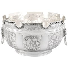 Antique Edwardian Sterling Silver Monteith Bowl