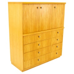 Jack Cartwright for Founders Mid Century 8 Drawer Armoire Gentlemans Chest