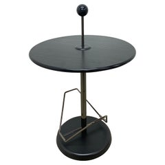 Post Modern Magazine Side Table with Ball Handle, 1980s