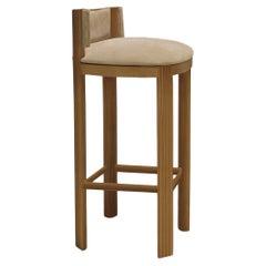 Unique Oak Bar Chair by Collector