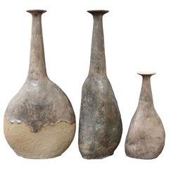 Set of Three Stoneware Vases by Bruno Gambone 'circa 1980s'