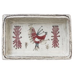 French Ceramic Rectangular Dish by Gustave Reynaud for Le Mûrier 'circa 1960s'