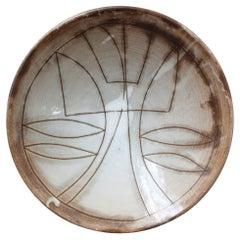 Vintage French Decorative Bowl by Jacques Pouchain for Atelier Dieulefit