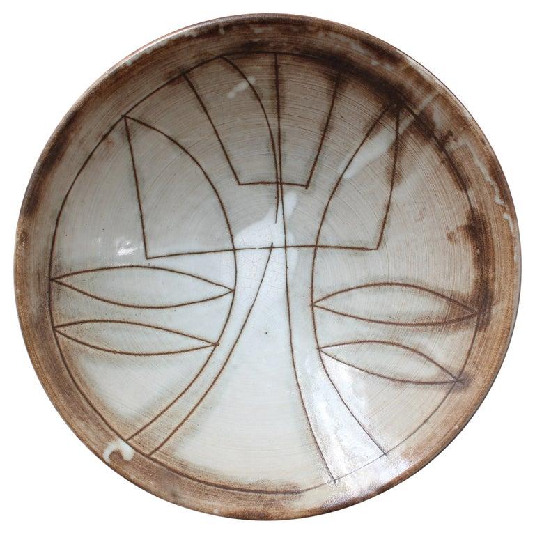 Vintage French Decorative Bowl by Jacques Pouchain for Atelier Dieulefit For Sale