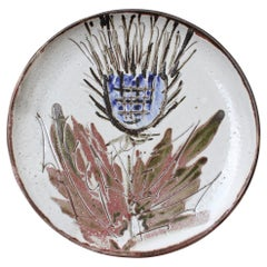 French Mid-Century Decorative Plate by Albert Thiry 'circa 1960s'
