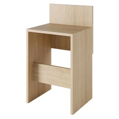 Solid Wood Slab Counter Stool