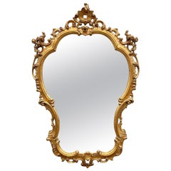 Italian Carved & Gilded Rococo Style Mirror