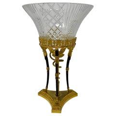 Antique French Empire Period Crystal and Ormolu Centerpiece, circa 1815-1825
