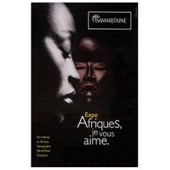 Africa, Original Poster from Samaritaine Exhibition Paris