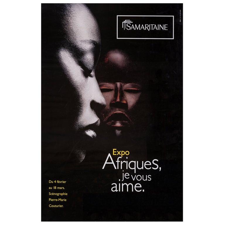 Africa, Original Poster from Samaritaine Exhibition Paris For Sale