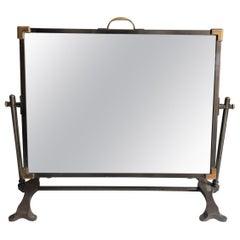 Antique Belle Époque Revolving Iron Bronze Table Mirror