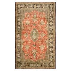 Antique Qum Silk Rug