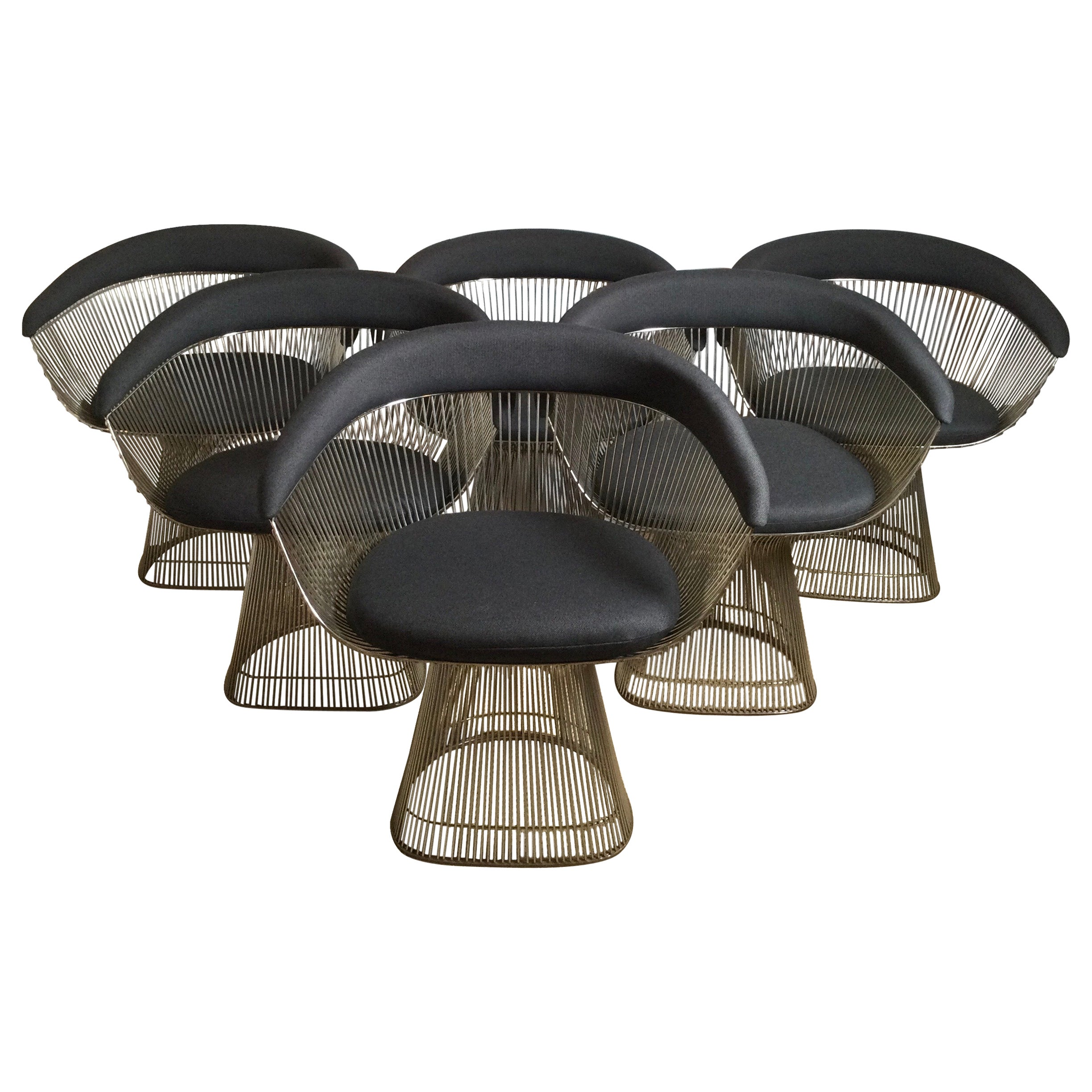 Vintage Warren Platner Arm Chairs, Set of Six for Knoll