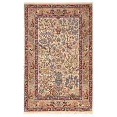Antique Persian Isfahan, Silk Rug