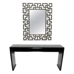Chinoiserie Mirror and Console Table
