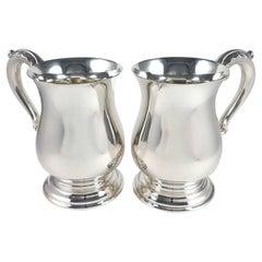 Pair of George VI Sterling Silver Mugs, 1950