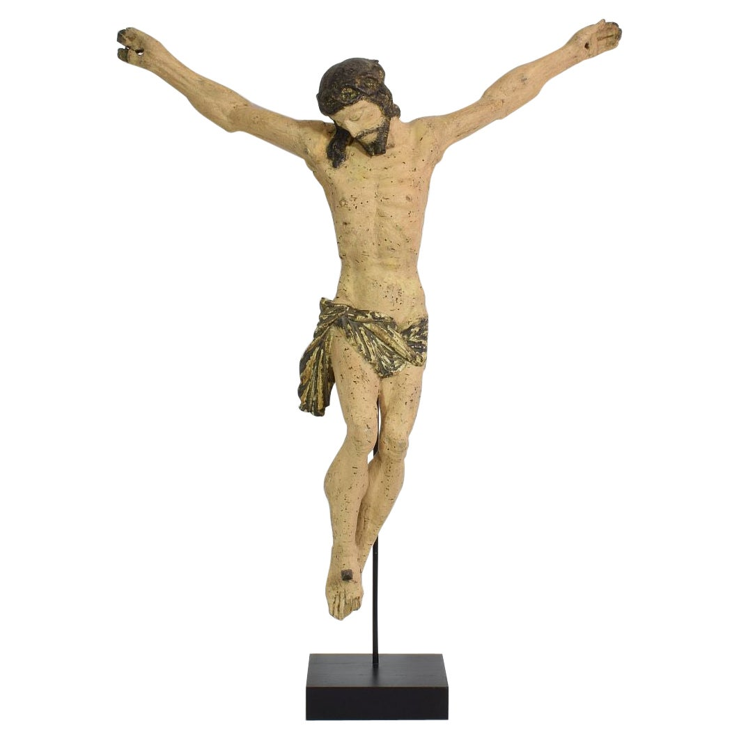 17/18th Century, Italian Carved Wooden Christ
