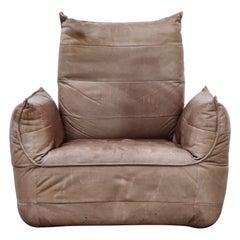Gerard van den Berg Leather Soft Form Lounge Chair
