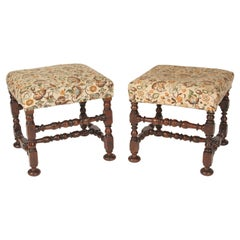 Pair of Antique Baroque Style Benches