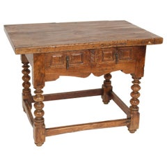 Antique Baroque Single Drawer Occasional Table