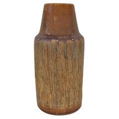 Soholm Sgraffito Earthenware Pottery Vase Denmark 1960s