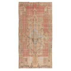 1950's Hand Made Oriental Area Rug, Vintage Wool Turkish Tribal Carpet