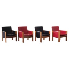 """Afra & Tobia Scarpa """"917"""" Lounge Chairs for Cassina, 1963, Set of 4"""