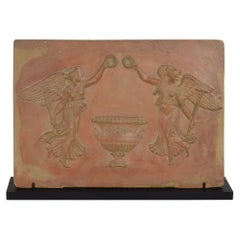 18th/ 19th Century French Neoclassical Terracotta Panel with Angels