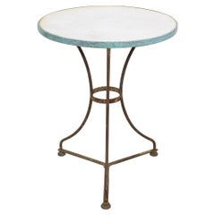 19th Century French Bistro Table with Marble Top