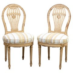 Pair of French Balloon Back Side Chairs