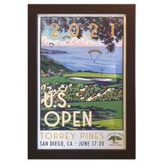 2021 U.S. Open Golf Poster Torrey Pines by Lee Wybranski