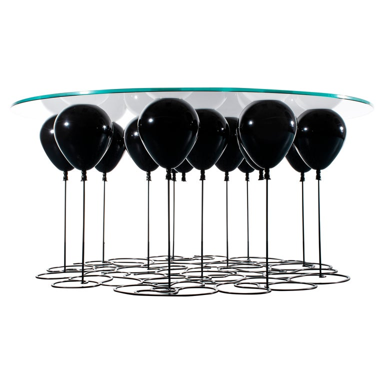 Up! Balloon Coffee Table, Black Edition For Sale