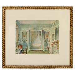 Print of an Interior Bath