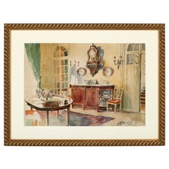 Watercolor Interior Painting