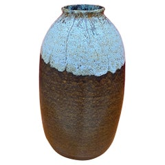 Art Deco Stoneware Vase in the Style of Emile Decoeur, circa 1930