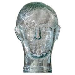 Vintage Glass Head, Italy, c. 1960